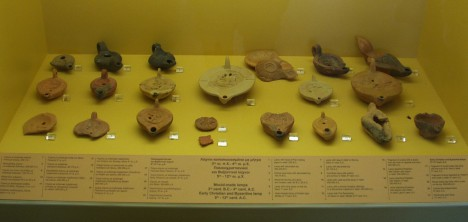 Athens Ancient Agora: Museum obects - oil lamps